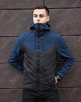 """Куртка мужская Pobedov Jacket """"Birmingham"""" на весну и осень из эко кожи модная в черном цвете, ОРИГИНАЛ"""