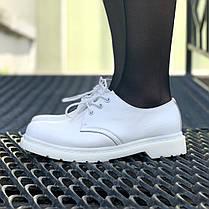 Мужские ботинки Dr.Martens 1461 Mono White, фото 2