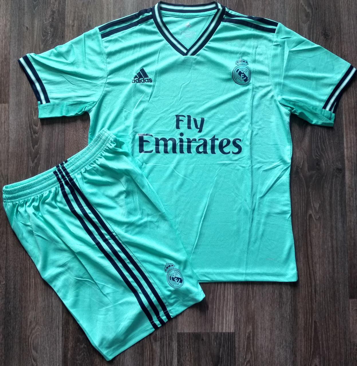 Футбольная форма Реал Мадрид сезон 2019-2020 резервная бирюзовая