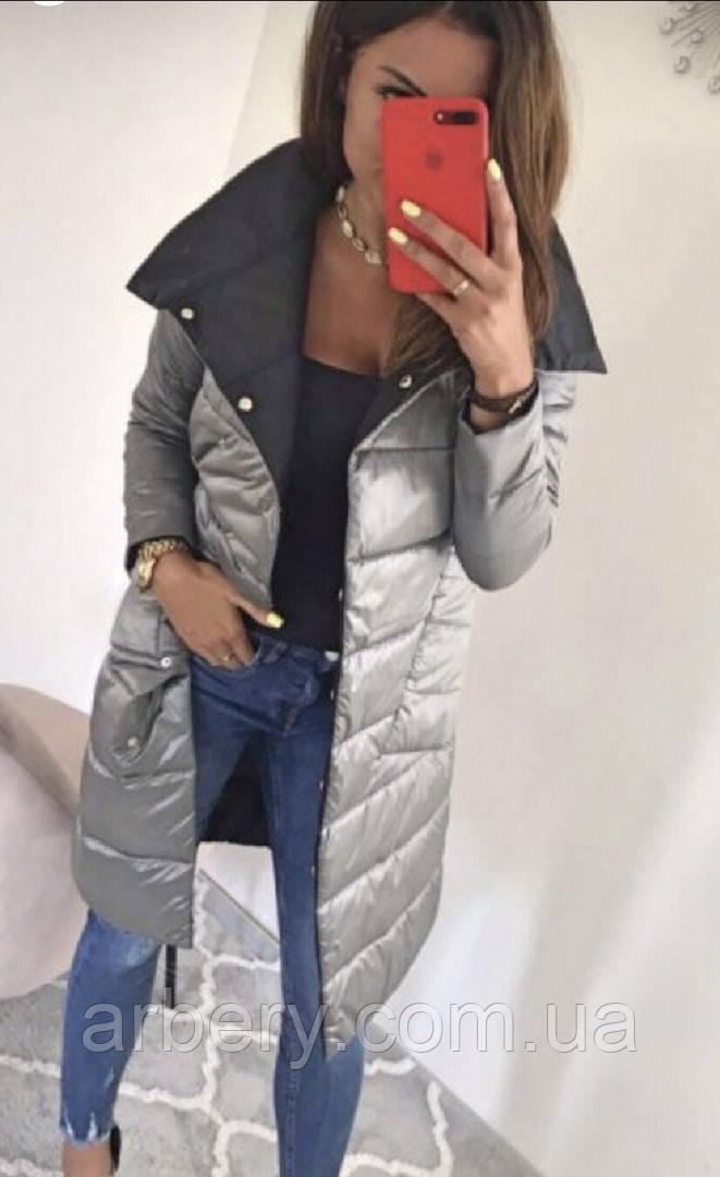 Женская модная двухсторонняя куртка осень-зима