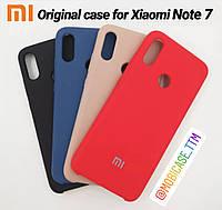 Чехол Original Silicone Soft-Touch для телефону Xiaomi Redmi Note 7 на сяоми ксиоми редми ноте нот 7 бампер