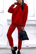 Костюм спортивный (брюки и кофта, красный, ткань - трёхнитка на меху) Размер S, M, L (розница и опт)