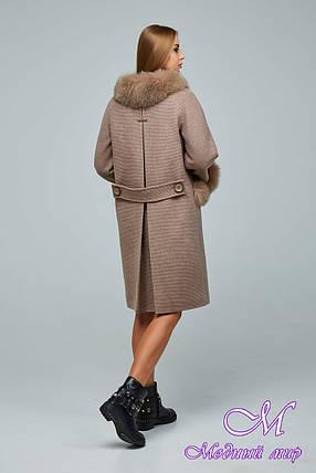 Женское шерстяное зимнее пальто (р. 44-54) арт. 1205 Тон 2, фото 2