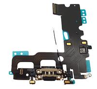 Шлейф с разъемом зарядки и наушников для Apple iPhone 7, черный