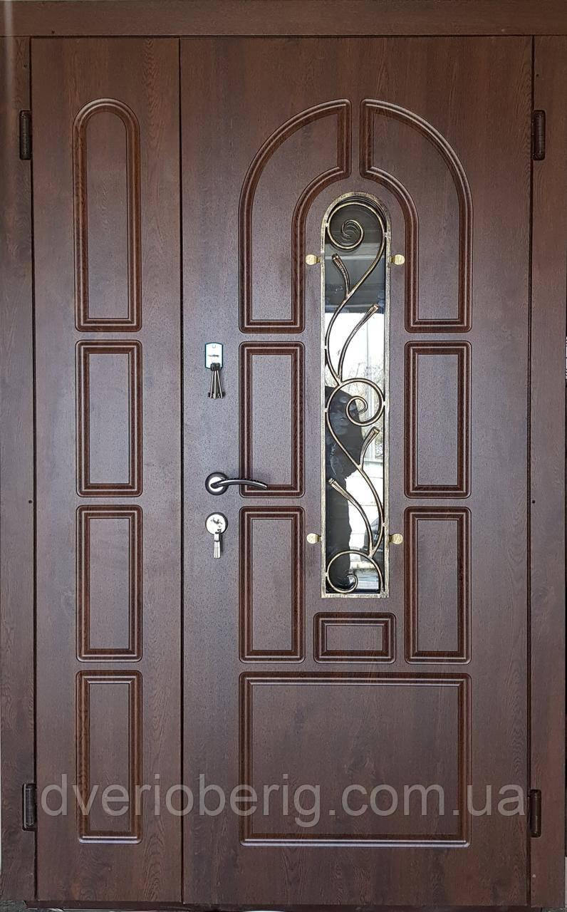 Входная дверь полуторная модель П1 124 vinorit-02 КОВКА
