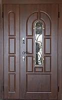 Входная дверь полуторная модель П1 124 vinorit-02 КОВКА, фото 1