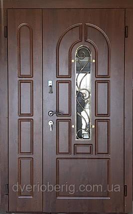 Входная дверь полуторная модель П1 124 vinorit-02 КОВКА, фото 2