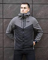 Мужская куртка Pobedov Jacket  демисезонная из водоотталкивающей плащевки в сером цвете, ОРИГИНАЛЬНАЯ