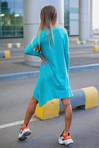 """Асимметричное трикотажное платье-туника """"Сердце"""" с длинным рукавом (3 цвета), фото 2"""