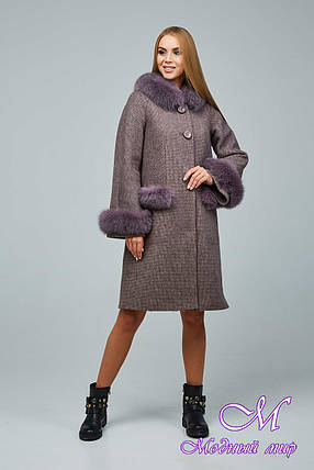 Женское элегантное зимнее пальто с большим мехом (р. 44-54) арт. 1205 Тон 3, фото 2