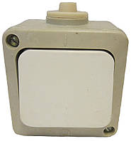 Выключатель полугерметический одинарный накладной Киев 6А 250В, фото 1