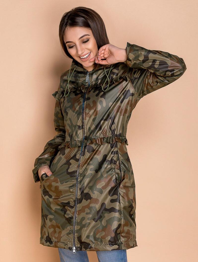 Женская куртка-парка утепленная флисом,хаки S M L