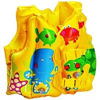 Детский надувной жилет intex 59661 с рыбками от 2-5 лет