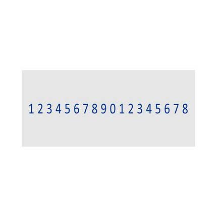 Нумератор металевий 4мм, 18-ти розрядний з вільним полем 30х68 мм, Shiny H-6418, фото 2