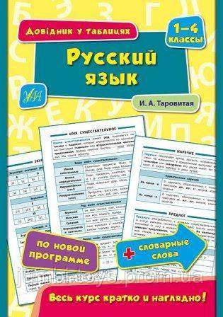 Довідник у таблицях:  Русский язык. 1–4 классы