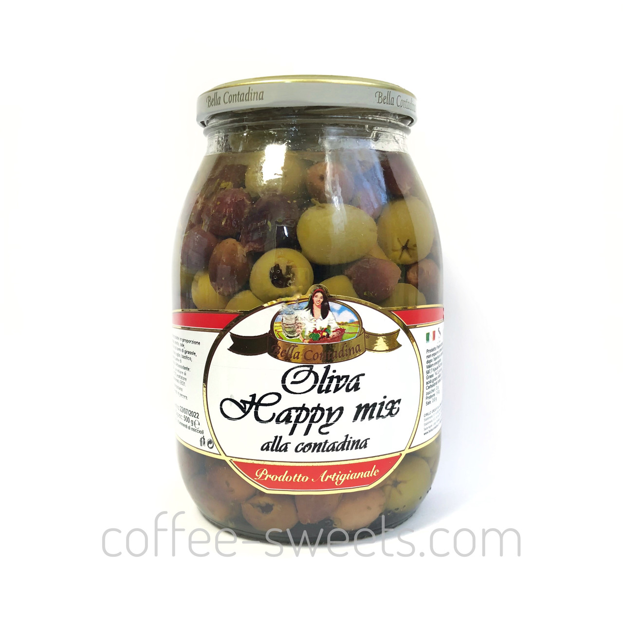 Оливки без косточки Bella Contadina Oliva Happy mix 1062 g