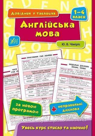 Довідник у таблицях:  Англійська мова. 1–4 класи
