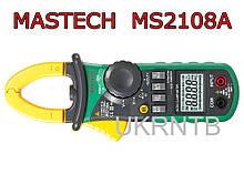 Токовые клещи MASTECH MS2108A / Токоизмерительные клещи (постоянный ток, фонарик) 0,01-400 А