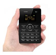 Мини мобильный маленький телефон Card Phone Q1 BLACK