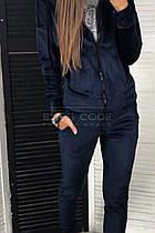 Костюм осенний (брюки и кофта, черный, ткань - королевский бархат) Размер S, M, L (розница и опт)
