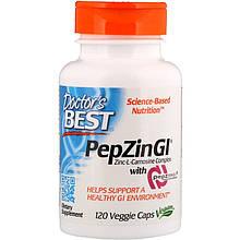 "Комплекс цинк-L-карнозина Doctor's Best ""PepZin GI"" здоровье кишечной флоры (120 капсул)"
