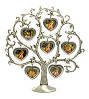 Фоторамка Семейное дерево 7 фото сердечко