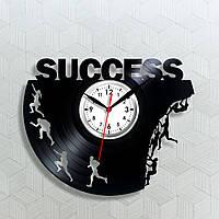 Часы успех Винил на стену Часы в кабинет Кварцевые часы Часы для босса Бизнес успех Декор в интерьер с винила
