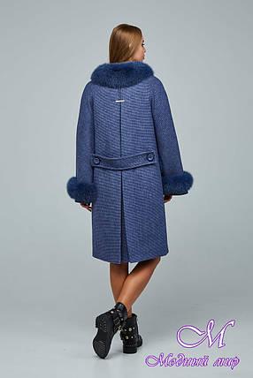 Женское теплое зимнее пальто с большим мехом (р. 44-54) арт. 1205 Тон 11, фото 2