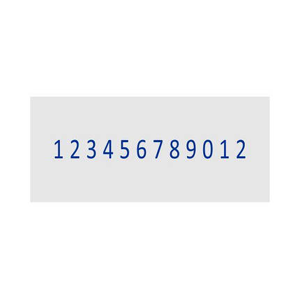 Нумератор ленточный 3мм, 12-ти разрядный, Shiny N-512, фото 2