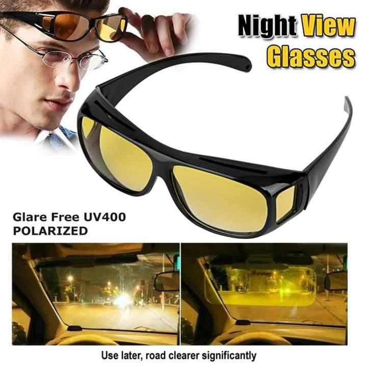 🔝 Автомобильные желтые очки для ночного вождения, HD Vision Wrap Arounds, очки для водителей | 🎁%🚚