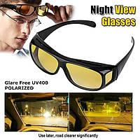 🔝 Автомобильные желтые очки для ночного вождения, HD Vision Wrap Arounds, очки для водителей | 🎁%🚚, фото 1