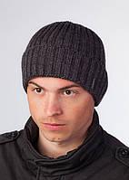 Вязаная классическая шапка Alaska 2 F темно-серая
