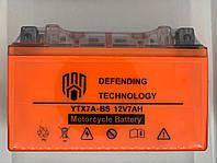 Аккумулятор мото 12В 7Ач Defending Technology YTX7A-BS