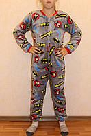 Комбінезон махровий дитячий теплий для хлопчика Бетмен р. 32-38