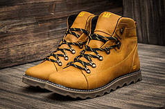 Мужские зимние кожаные ботинки CAT Expensive Arena (реплика)