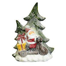 Статуэтка с подсветкой Lefard Санта 50 см 1005NQ фигурка новогодняя светящаяся Дед Мороз