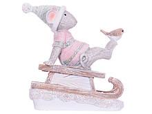 Статуэтка Lefard Мышка на санках 11х11 см 192-010 фигурка мышь крыса