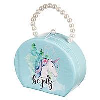 Шкатулка сумочка для украшений кейс для прикрас Единорог Unicorn Studio 18х14х7 см 0609JA органайзер, фото 1