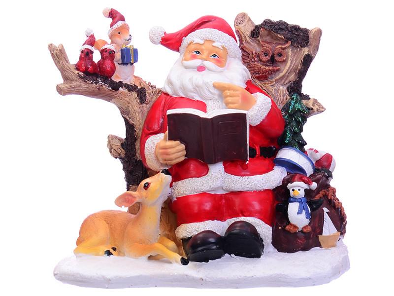Статуэтка Lefard Санта 20 см 919-282 Дед Мороз новогодняя фигурка Санта Клаус