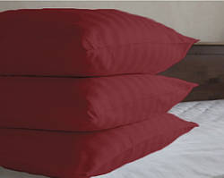 Наволочки HOTEL САТИН-СТРАЙП 70 х 70 см (бордо, 100% хлопок)