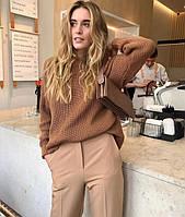 Модный вязаный женский свитер, BK - 21, фото 1