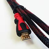 Кабель HDMI - micro HDMI, тканевый, 1,5м, фото 3