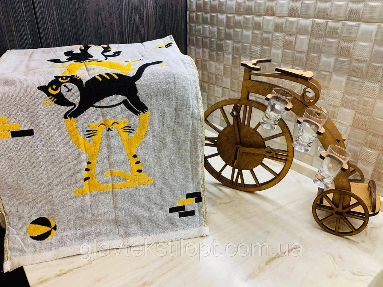 Льняные двухсторонние полотенца  35 х 70 см