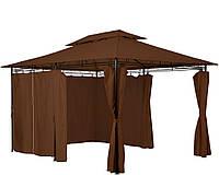 Альтанка шатер садовый павильйон 3x4m  Коричневый