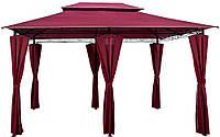 Альтанка шатер садовый павильйон 3x4m  Красный