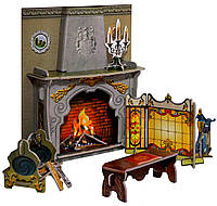 Камин, коллекционный набор сборной мебели из картона, Умная бумага
