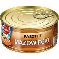 Паштет Mazowiecki 300г свинина EvraMeat ключ ж/б (1/12)