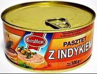 Паштет Z Indykiem 300г індик EvraMeat ключ ж/б (1/12)
