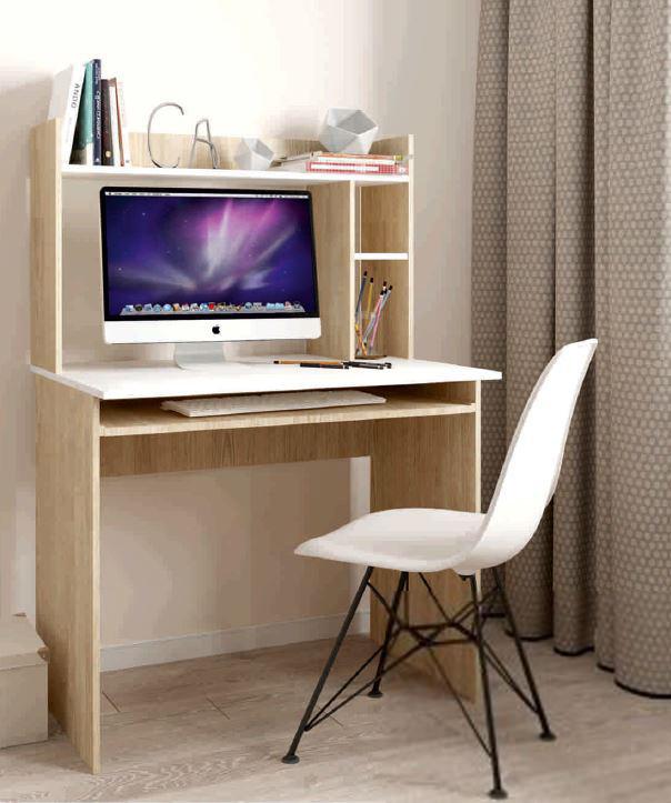 Стол письменный с надстройкой Люкс 2 дуб сонома