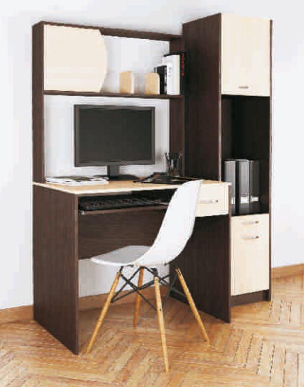 Стол письменный с надстройкой Люкс 3 венге + дуб сонома